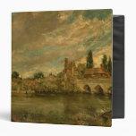 """El puente de Harnham y de la catedral de Salisbury Carpeta 1 1/2"""""""