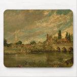 El puente de Harnham y de la catedral de Salisbury Tapetes De Ratones