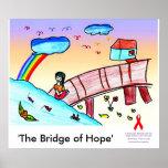 El puente de la esperanza (caridad del VIH/del SID Posters