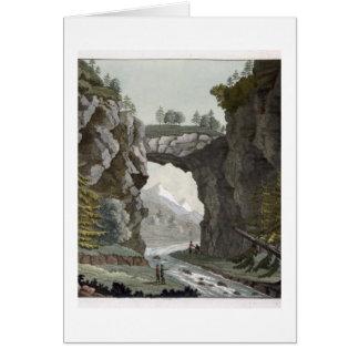 El puente de la roca, Virginia, de 'Le Costume Anc Tarjeta