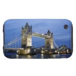 El puente de la torre en la oscuridad iPhone 3 tough fundas