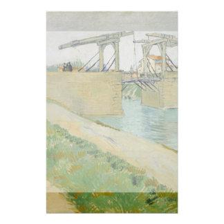 El puente de Langlois de Vincent van Gogh Tarjetas Informativas