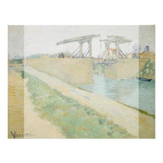 El puente de Langlois de Vincent van Gogh Tarjeton
