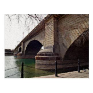 El puente de Londres en Lake Havasu pintó Tarjeta Postal