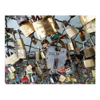 El puente de los amantes cierra el monumento Amor  Tarjeta Postal