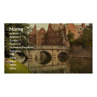 El puente de los argumentos, Cambridge de San Juan Tarjetas De Visita