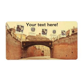El puente de los mentirosos, Sibiu Etiquetas De Envío