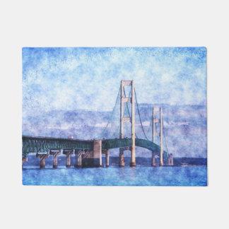 El puente de Mackinac Felpudo