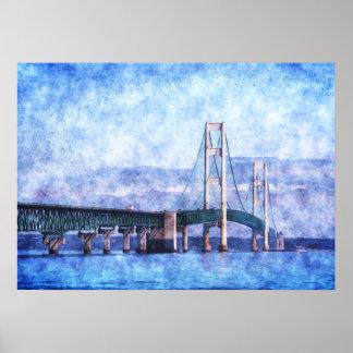 El puente de Mackinac Póster