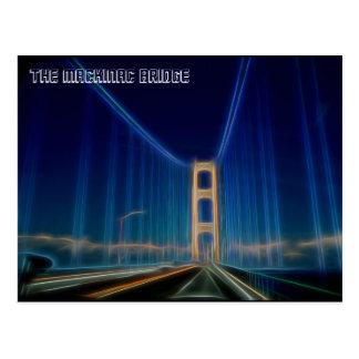 El puente de Mackinac Tarjeta Postal