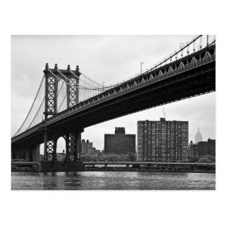 El puente de Manhattan en New York City Postales