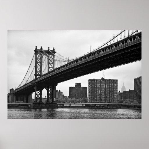 El puente de Manhattan en New York City Poster