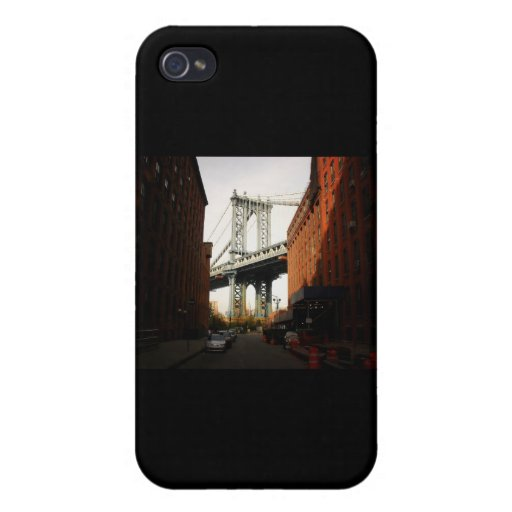 El puente de Manhattan, una opinión de la calle iPhone 4 Protector
