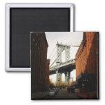 El puente de Manhattan, una opinión de la calle Imán Para Frigorifico