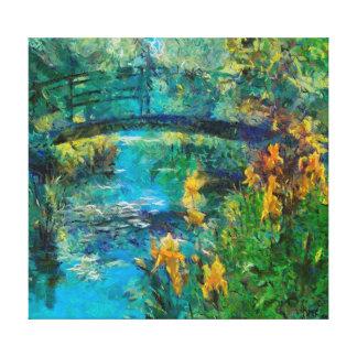 El puente de Monet con el iris Impresion En Lona