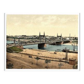 El puente de Neckar, Mannheim, Baden, magnif de Al Postal