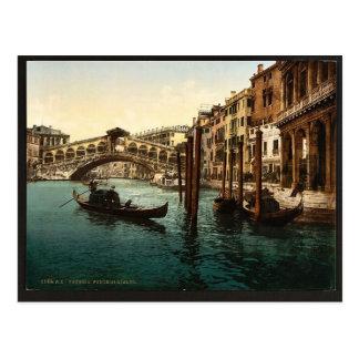 El puente de Rialto, obra clásica Photochro de Ven Postales