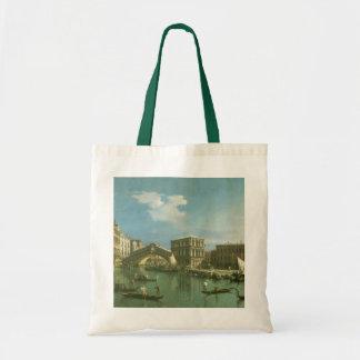 El puente de Rialto, Venecia Bolsa Tela Barata