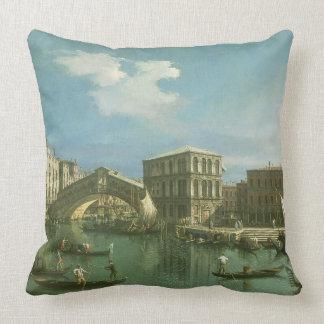 El puente de Rialto, Venecia Cojín
