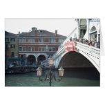 El puente de Rialto, Venecia Tarjetón