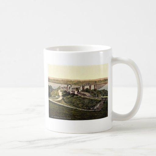 El puente de Severn, agudeza, Inglaterra Photoch r Tazas De Café