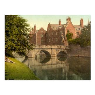 El puente de St John, Cambridge, Inglaterra Postal
