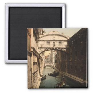 El puente de suspiros II, Venecia, Italia Imán Cuadrado