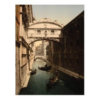 El puente de suspiros II, Venecia, Italia Postales