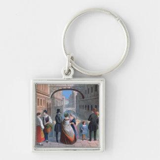 El puente de suspiros Venecia grabada por Brizeg Llavero Personalizado