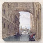 El puente de suspiros, Venecia, grabada por Lefevr Posavasos De Bebida