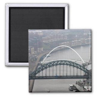 El puente de Tyne y puente del milenio Imanes De Nevera
