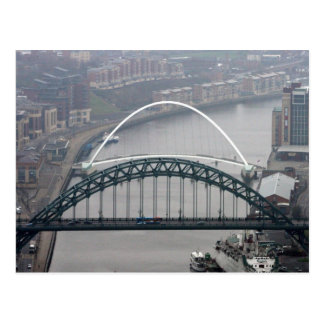 El puente de Tyne y puente del milenio Postal