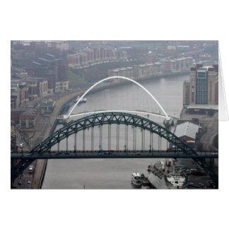 El puente de Tyne y puente del milenio Tarjeta De Felicitación