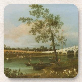 El puente de Walton viejo, 1755 (aceite en lona) Posavasos
