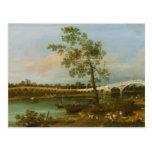 El puente de Walton viejo, 1755 (aceite en lona) Postal