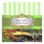 El puente del arco, ducha nupcial del Central Park Invitacion Personal