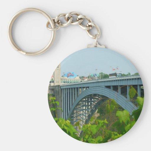 El puente del arco iris, Niagara Falls Llavero Personalizado