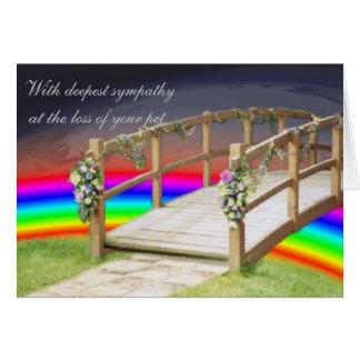 El puente del arco iris tarjeta de felicitación