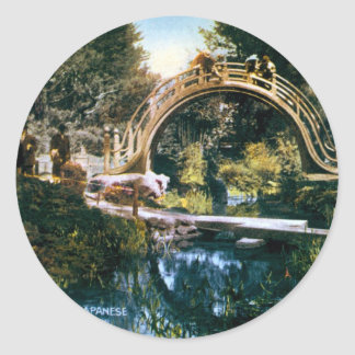 El puente del arco pegatinas redondas