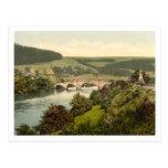 El puente del bamboleo, Aberfeldy, Escocia Tarjetas Postales