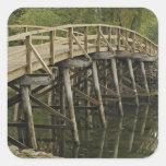 El puente del norte viejo, nacional minucioso del calcomanía cuadrada