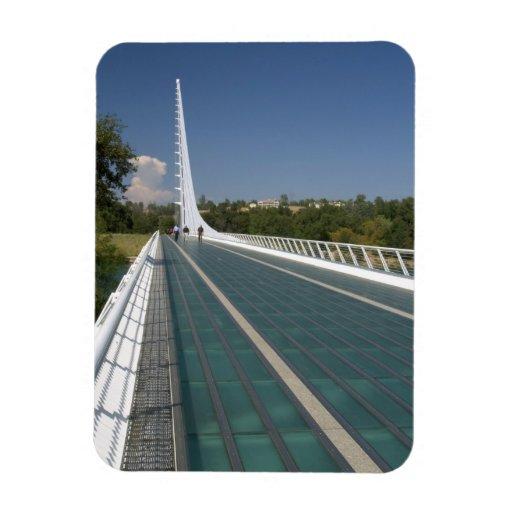 El puente del reloj de sol en la bahía de la tortu imanes rectangulares