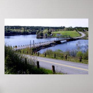 El puente del río salmonero, Guysborough Co., N.S. Poster