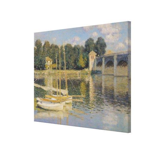 El puente en Argenteuil, 1874 Impresión En Lona Estirada