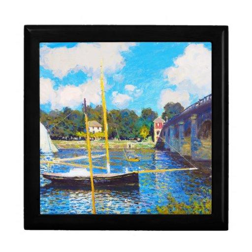 El puente en Argenteuil Claude Monet Caja De Joyas