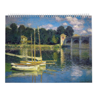 El puente en Argenteuil - Claude Monet Calendario De Pared