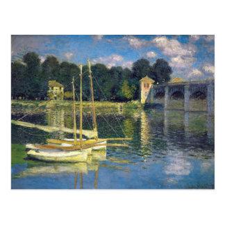 El puente en Argenteuil - Claude Monet Postal