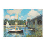 El puente en Argenteuil de Claude Monet Impresión De Lienzo