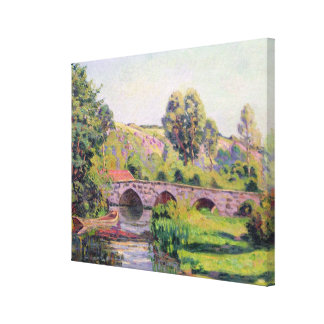 El puente en Boigneville, c.1894 Impresión En Lienzo