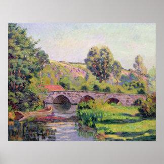 El puente en Boigneville, c.1894 Póster